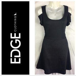 Edge Black Cold Shoulder A Line Dress Size Large